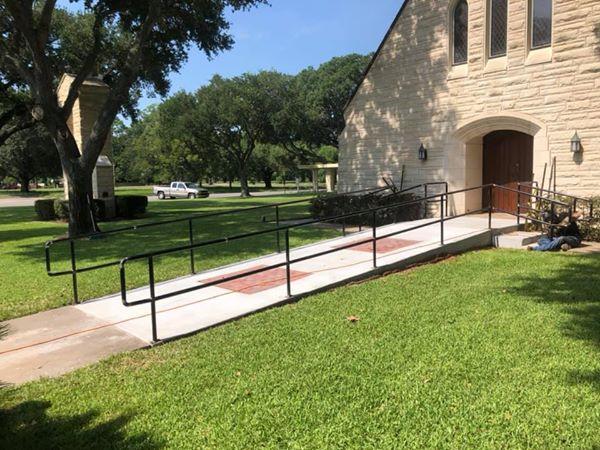 Custom Handrails @ the Methodist Church.