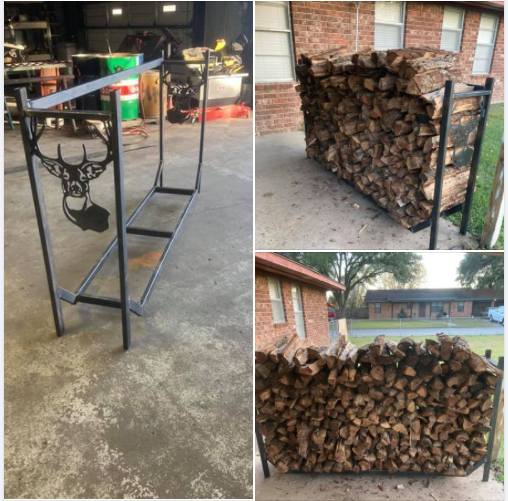 A Better Way to Stack Firewood & Looks great!